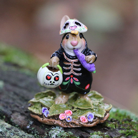 Dia De Muerto Bunny B-29a by Wee Forest Folk®