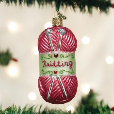 Knitting Yarn Ornament by Old World Christmas