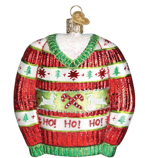 Festive Christmas Sweater Ornament by Old World Christmas