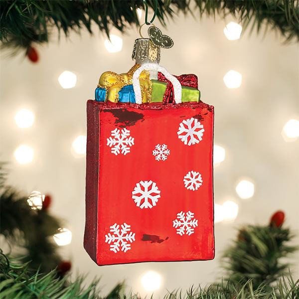 Holiday Shopping Bag Ornament by Old World Christmas