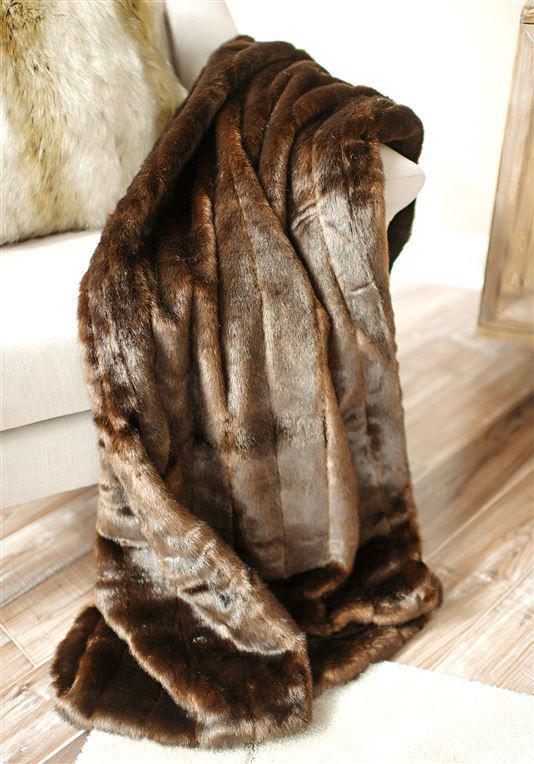 Sable Faux Fur Throw by Donna Salyers Fabulous Furs