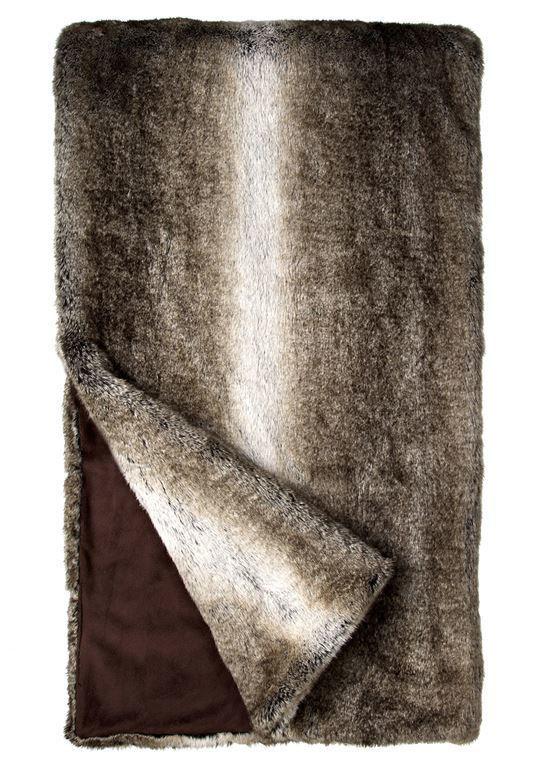 Grey Rabbit Faux Fur Throw by Donna Salyers Fabulous Furs