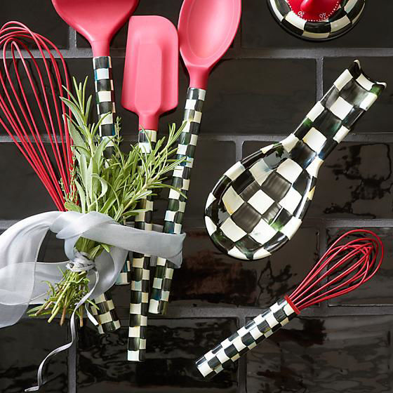 Courtly Check Small Whisk - Red by MacKenzie-Childs