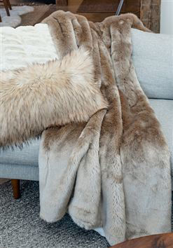 Champagne Mink Faux Fur Throw by Donna Salyers Fabulous Furs