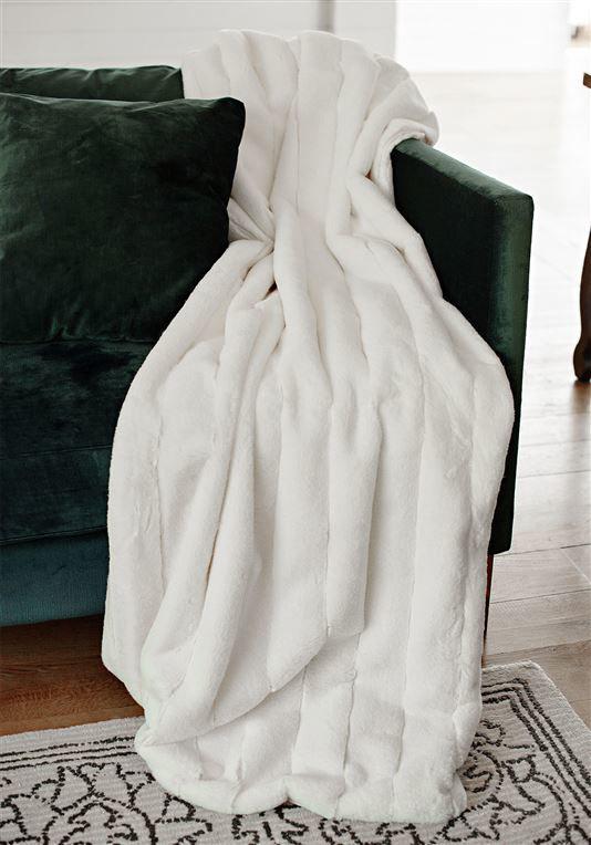 Ivory Mink Posh Faux Fur Throw by Donna Salyers Fabulous Furs