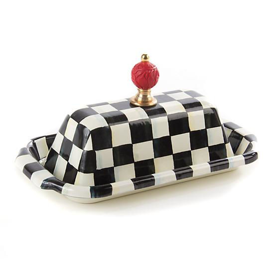 Courtly Check Enamel Butter Box by MacKenzie-Childs