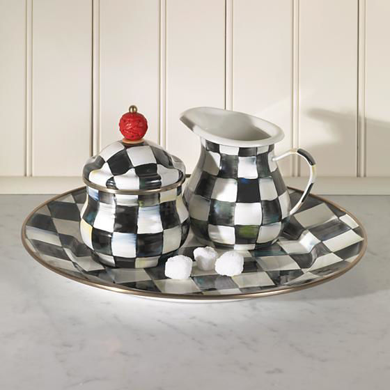 Courtly Check Enamel Charger Plate by MacKenzie-Childs