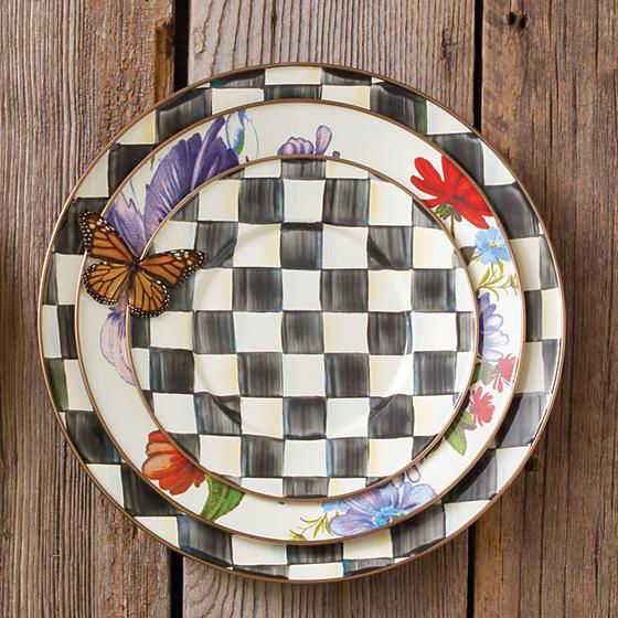 Courtly Check Enamel Salad/Dessert Plate by MacKenzie-Childs