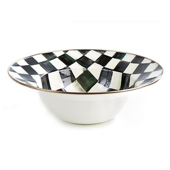 Courtly Check Enamel Serving Bowl by MacKenzie-Childs