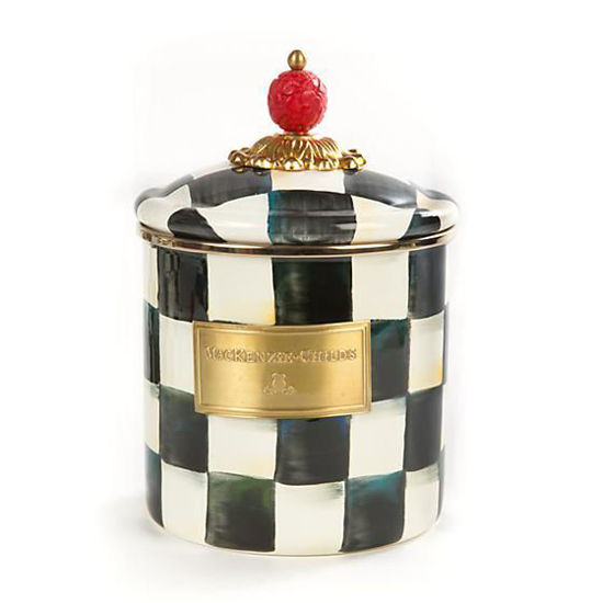 Courtly Check Enamel Canister - Small by MacKenzie-Childs