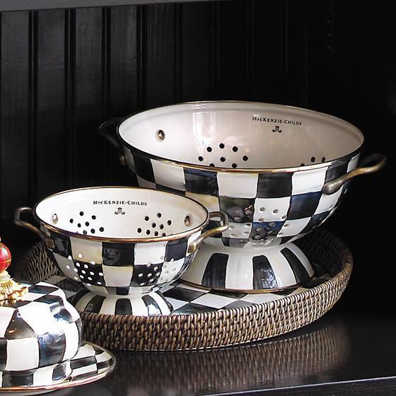 Courtly Check Enamel Colander - Small by MacKenzie-Childs