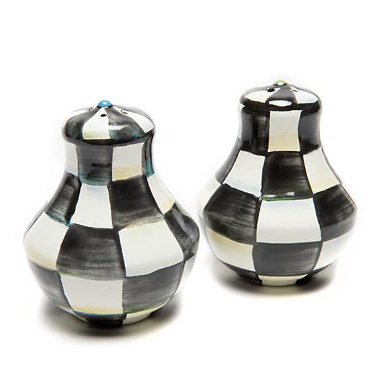 Courtly Check Enamel Salt & Pepper Shakers - Small by MacKenzie-Childs