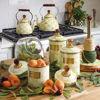 Parchment Check Enamel Lid Cookie Jar by MacKenzie-Childs