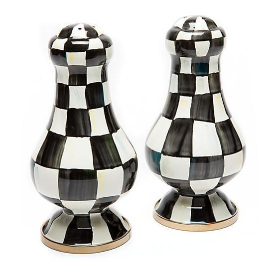 Courtly Check Enamel Salt & Pepper Shakers - Large by MacKenzie-Childs