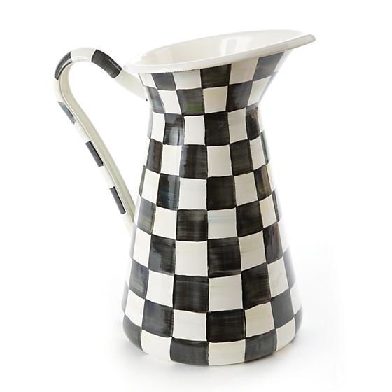 Courtly Check Enamel Practical Pitcher - Large by MacKenzie-Childs