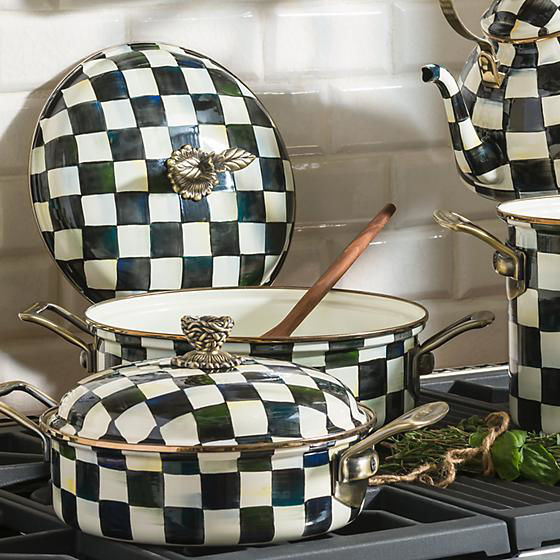 Courtly Check Enamel 5 Qt. Casserole by MacKenzie-Childs