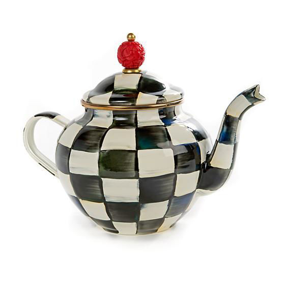 Courtly Check Enamel Teapot - 4 Cup by MacKenzie-Childs