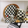 Courtly Check Rattan & Enamel Tray - Large by MacKenzie-Childs