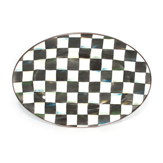 Courtly Check Enamel Oval Platter - Small by MacKenzie-Childs
