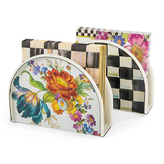 Courtly Check Enamel Napkin Holder by MacKenzie-Childs