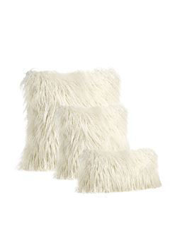Ivory Tibetan Lamb Pillow by Donna Salyers Fabulous Furs