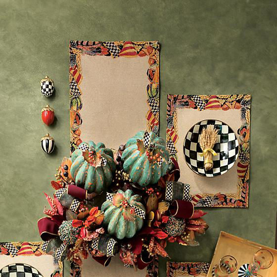 Courtly Check Enamel Gourmand Coupe by MacKenzie-Childs