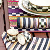 Courtly Check Enamel Napkin Rings - Set of 4 by MacKenzie-Childs