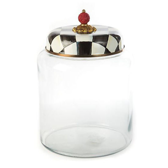 Courtly Check Enamel Lid Storage Canister - Bigger by MacKenzie-Childs