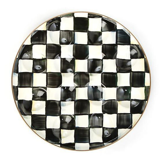 Courtly Check Enamel Egg Plate by MacKenzie-Childs