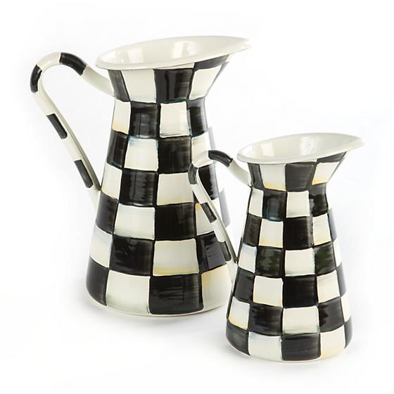 Courtly Check Enamel Practical Pitcher - Medium by MacKenzie-Childs