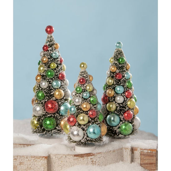 Merry & Bright Bottle Brush Trees Set by Bethany Lowe
