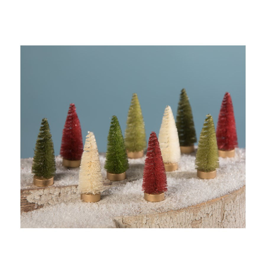 Traditional Bottle Brush Trees Box by Bethany Lowe