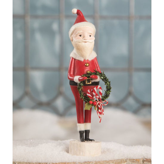Candycane Santa with Wreath by Bethany Lowe