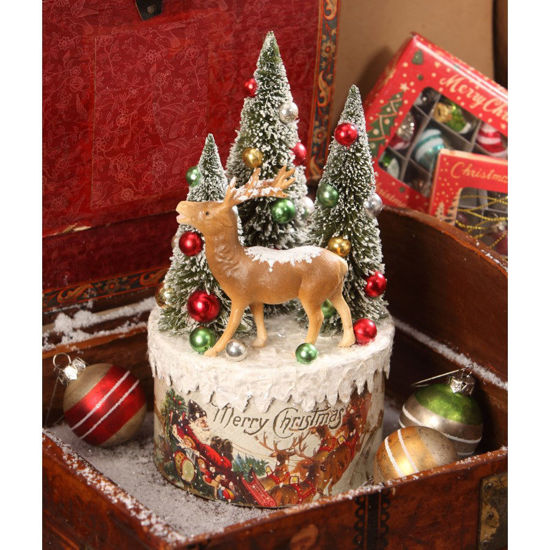 Traditional Deer Vignette on Box by Bethany Lowe