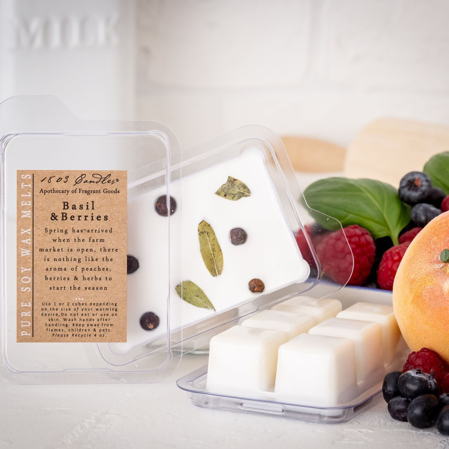Basil & Berries Melters by 1803 Candles
