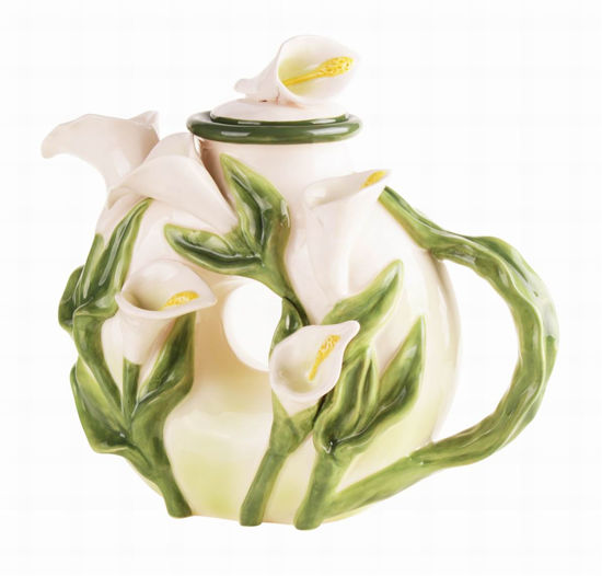 Calla Lily Teapot by Blue Sky Clayworks