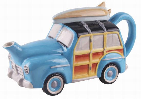Retro Woody Teapot by Blue Sky Clayworks