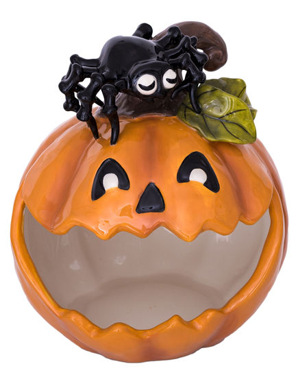 Pumpkin Spider Candy Bowl by Blue Sky Clayworks