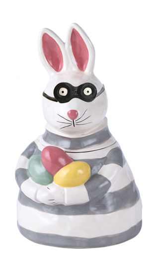 Bunny Nibbles Cookie Jar by Blue Sky Clayworks