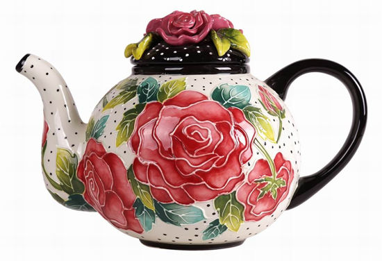 Rose Teapot by Blue Sky Clayworks