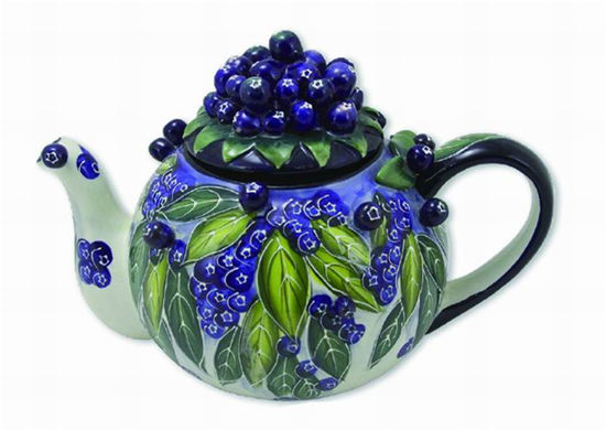 Blueberry Teapot by Blue Sky Clayworks