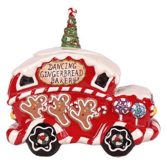 Dancing Gingerbread Bakery Cookie Jar by Blue Sky Clayworks