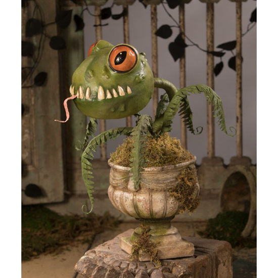 Froggy Fern Large Paper Mache by Bethany Lowe Designs