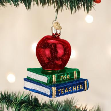 Teacher's Apple Ornament by Old World Christmas