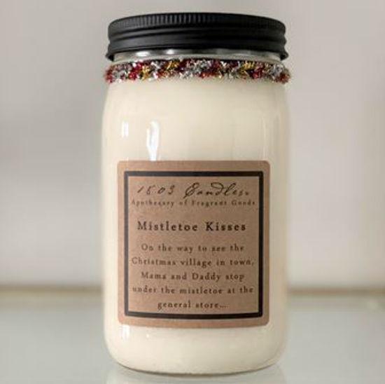Mistletoe Kisses 32 oz Jar by 1803 Candles