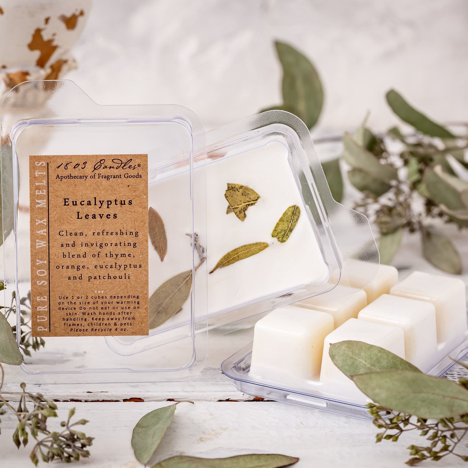 Eucalyptus Leaves Melters by 1803 Candles