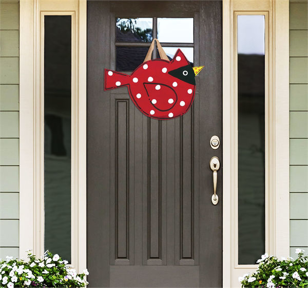 Cardinal Door Decor by Studio M