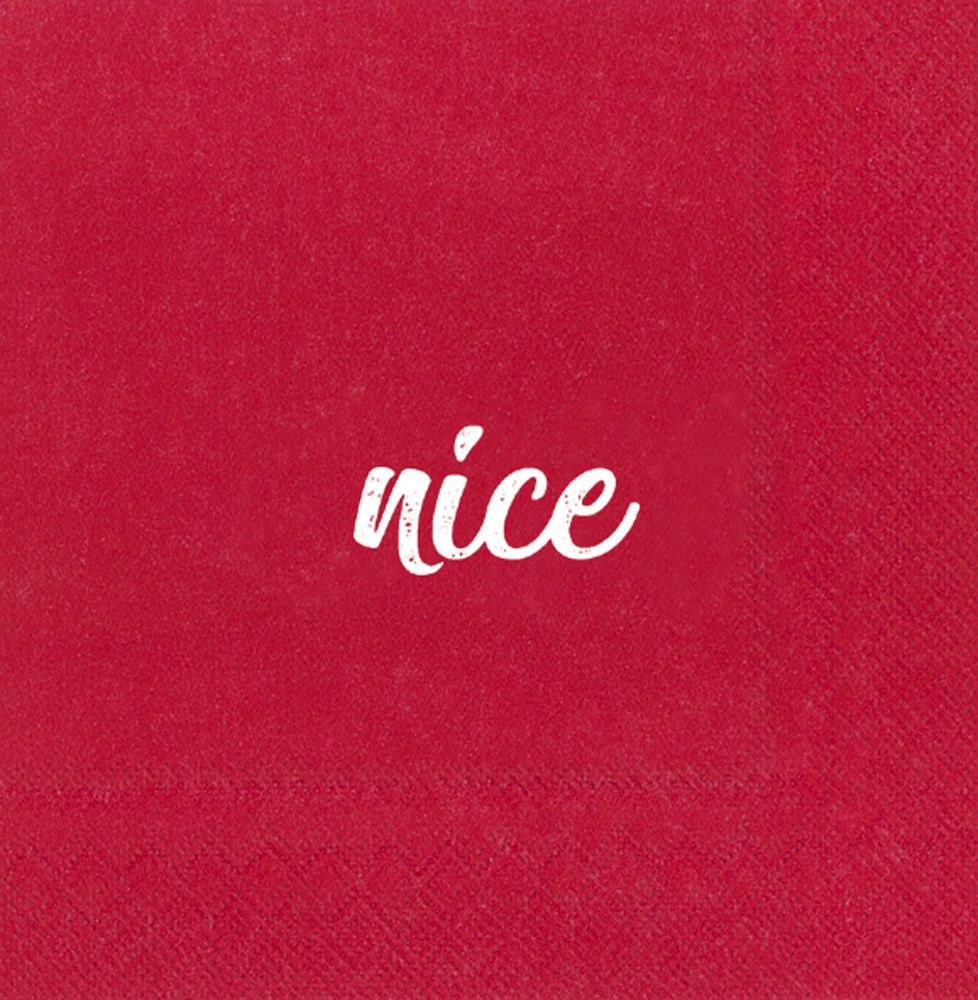 Naughty & Nice Cocktail Napkin by Boston International