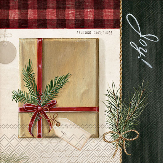 Holiday Wrapping Cocktail Napkin by Boston International