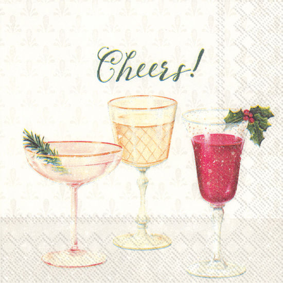 Cheers Cocktail Napkin by Boston International